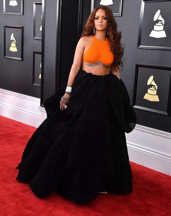 Rihanna na udílení Grammy v roce 2017
