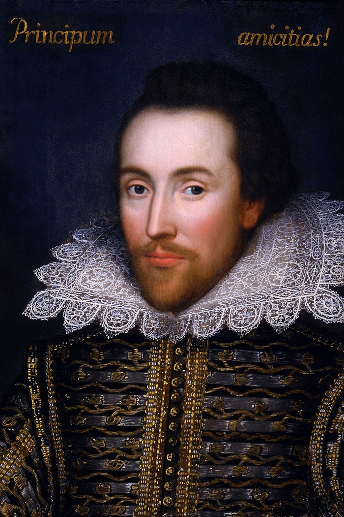 Portrét Williama Shakespeara od neznámého autora, cca 1612