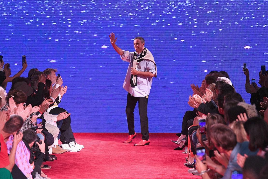 Raf Simons na přehlídce Calvin Klein v New Yorku, září 2018