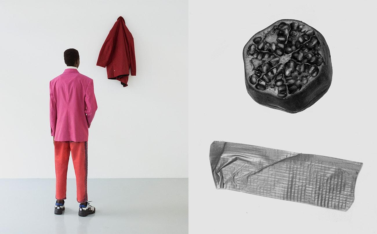 Rolák, Miaoran Studio; sako, Montegallo; kalhoty, MSGM; tenisky, Fila.
