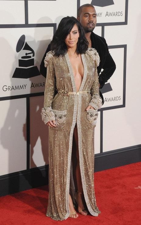 Kanye West a Kim Kardashian na 57th GRAMMY Awards, 2015