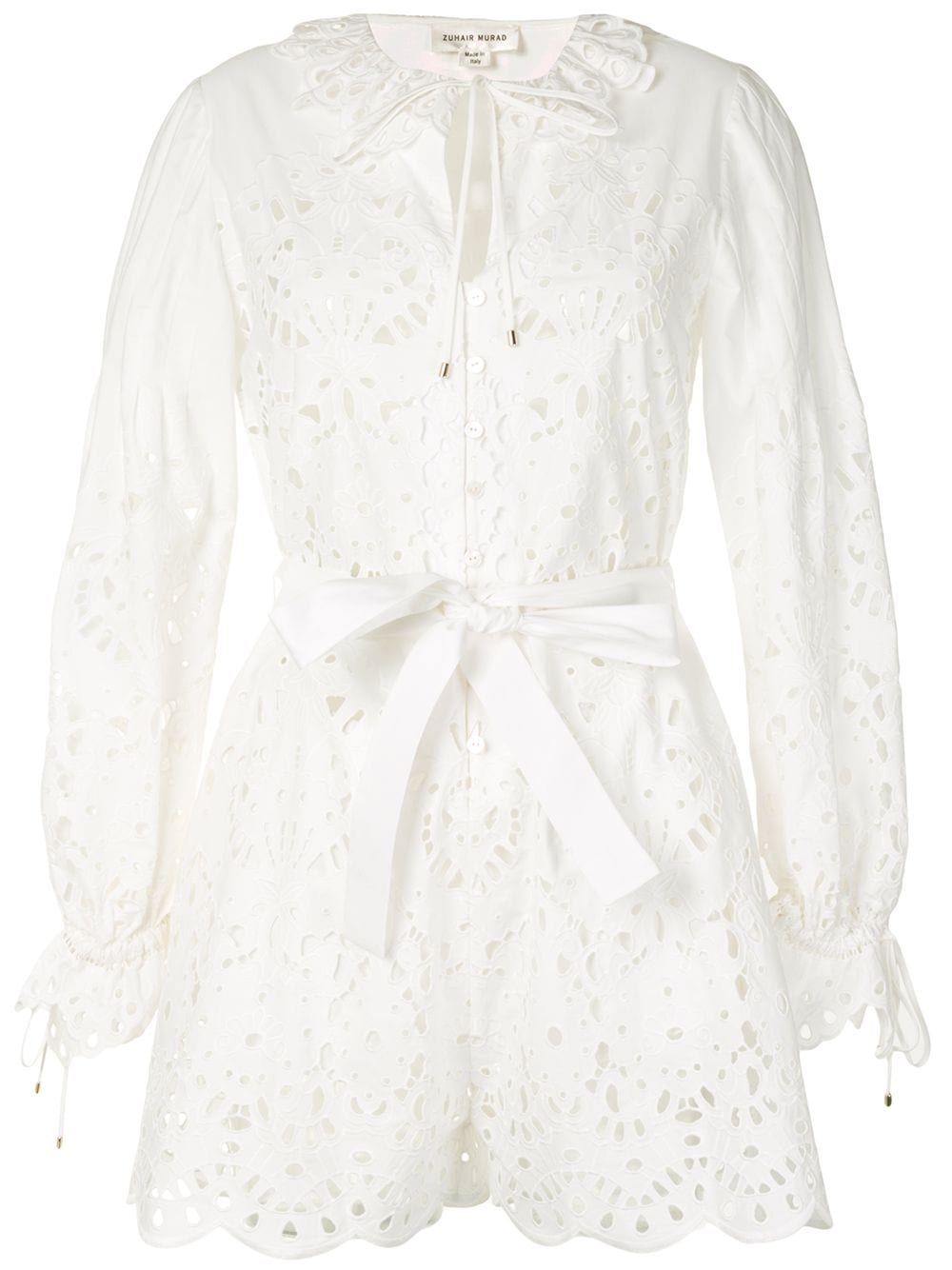 Bílé košilové šaty, ZUHAIR MURAD