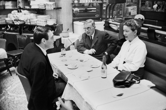 Claude Lanzmann, Jean-Paul Sartre a Simone de Beauvoir