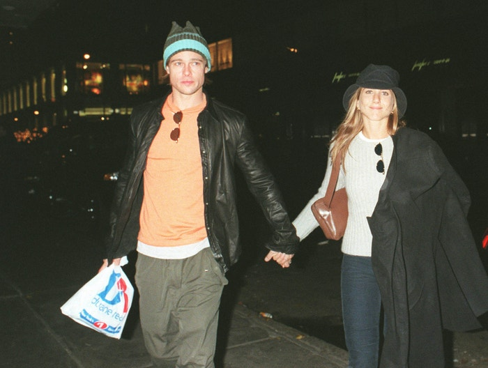 Brad Pitt a Jennifer Aniston, listopad 1999