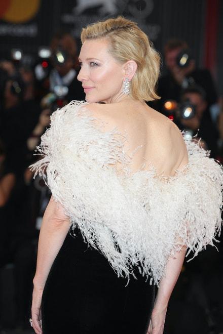 Cate Blanchett na filmovém festivalu v Benátkách, srpen 2018