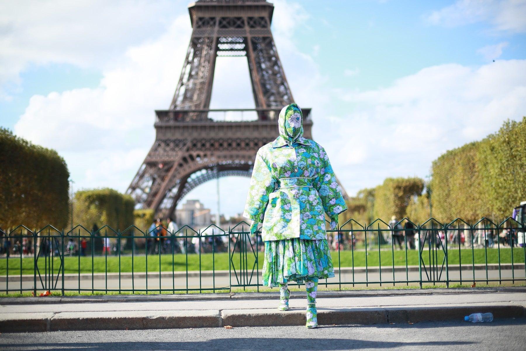 Cardi B v outfitu Richarda Quinna na pařížském fashion weeku, 28. 9 . 2019 Autor: Profimedia