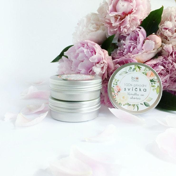 Extravagantně přírodní svíčka - Vanilka se skořicí, Biorhytme, prodává Biorhytme, 269 Kč