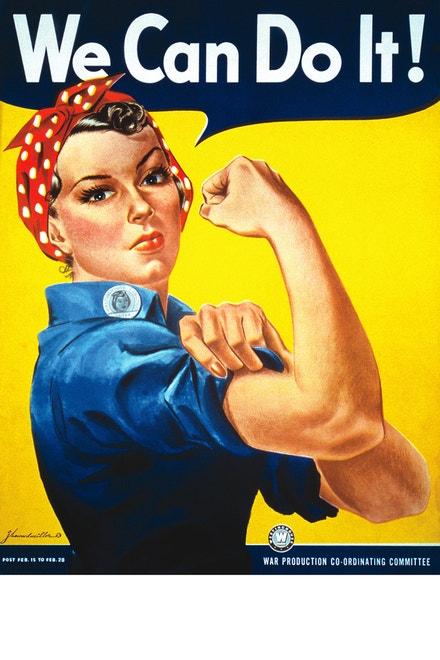 Plakát ze druhé světové války představující Rosie the Riveter, J. Howard Miller, 1940