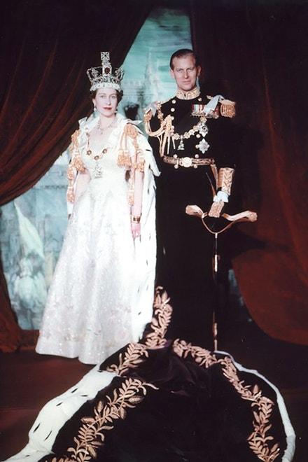 Princ Philip a královna Alžběta v roce 1953