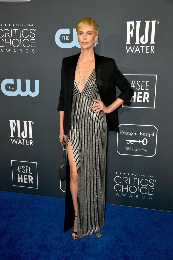 Charlize Theron v Celine Autor: Frazer Harrison/Getty Images