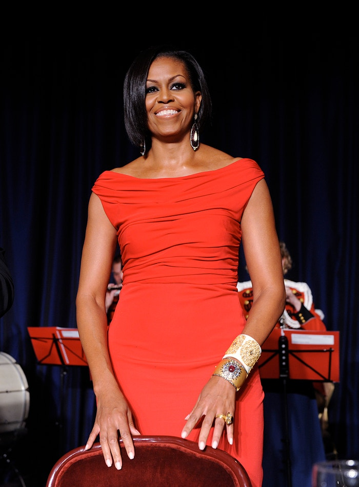Michelle Obama in Prabal Gurung at the White House Correspondents' Association Dinner in Washington, DC on May 1, 2010. Autor: Getty Images