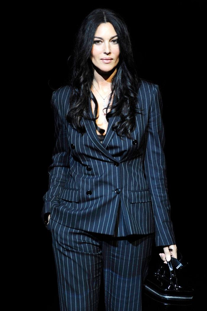 Monica Bellucci na přehlídce Dolce & Gabbana Fall/Winter 2008/2009, Milan Fashion Week, 2008 Autor: Chris Moore/Catwalking/Getty Images