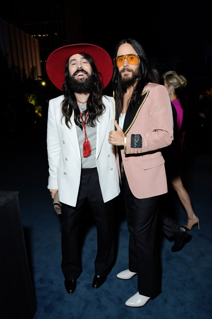 Alessandro Michele & Jared Leto, both in Gucci, 2019 LACMA Art + Film Gala Presented By Gucci Autor: Charley Gallay/Getty Images for LACMA