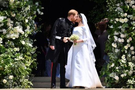Princ Harry, vévoda ze Sussexu, a Meghan, vévodkyně ze Sussexu, Windsor Castle, 19. května 2018