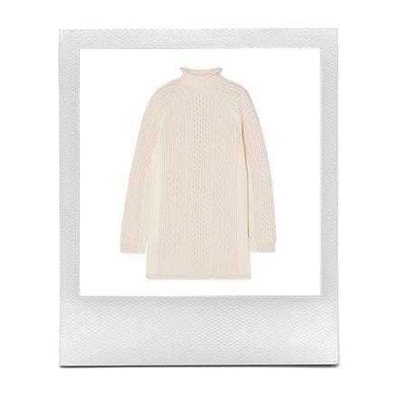 Vlněný svetr, Chloé, prodává Net-a-Porter, 1 550 €