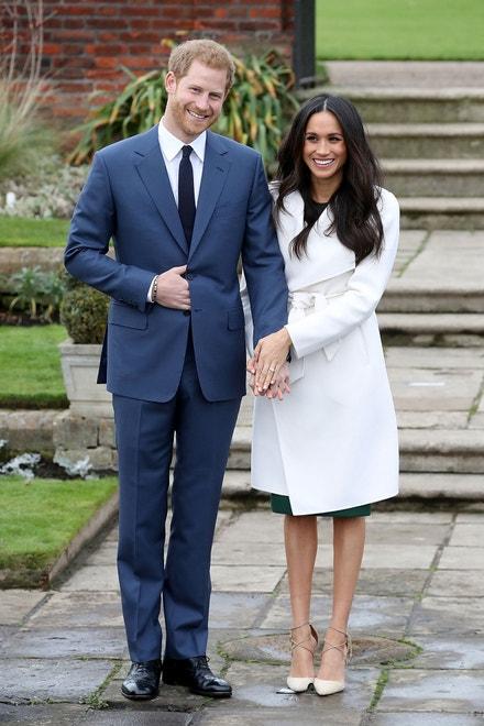 Princ Harry a Meghan Markle oznamují zasnoubení, The Sunken Gardens, Kesington Palace, listopad 2017