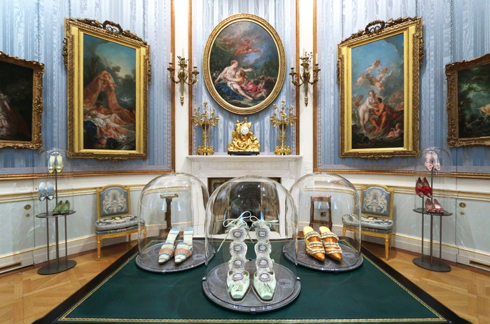 A room in the exhibition An Enquiring Mind: Manolo Blahnik at the Wallace Collection