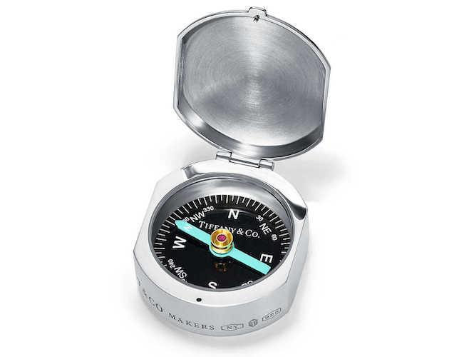 Stříbrný kompas, TIFFANY & CO., info o ceně v butiku