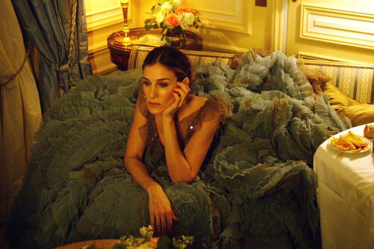 Sarah Jessica Parker jako Carrie Bradshaw v seriálu Sex ve městě
