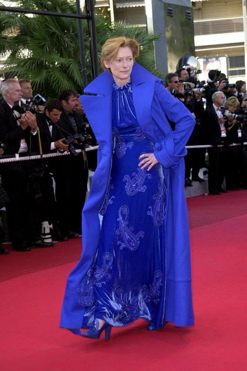 Tilda Swinton v Cannes, 2002