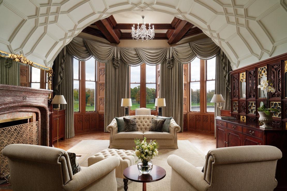 Suite Lady Caroline v hotelu Adare Manor v Irsku