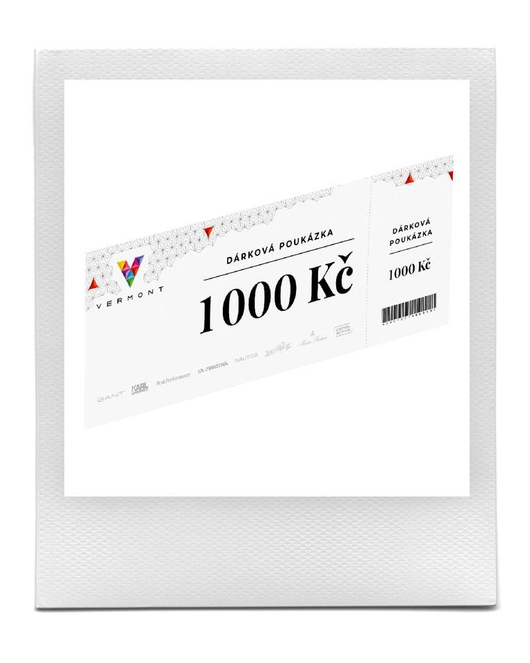 Dárkový poukaz v hodnotě 1000 Kč od společnosti Vermont
