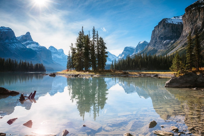 Kanada, Spirit Island, Jasper National Park