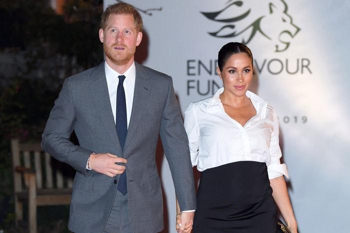 Princ Harry, vévoda ze Sussexu, a Meghan, vévodkyně ze Sussexu, Endeavour Fund Awards, Drapers Hall, Londýn, únor 2019