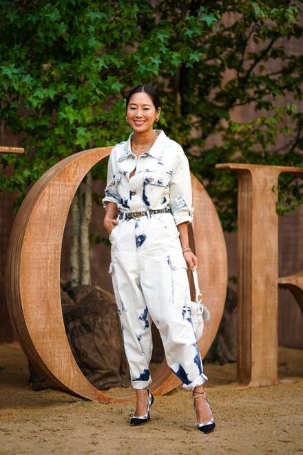 Aimee Song před přehlídkou Dior, Paris Fashion Week Womenswear Spring Summer 2020