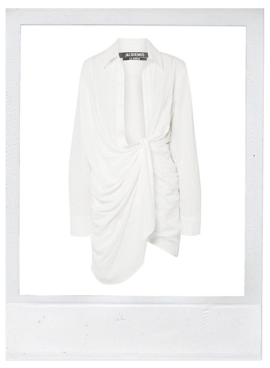 Bavlněné mini šaty, Jacquemus, prodává Net-a-Porter, 476 €