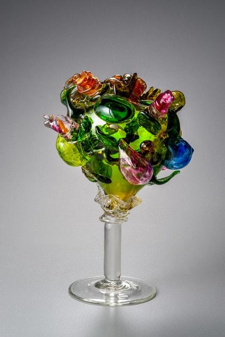Miluše Roubíčková: Pocta Botticellimu, 1973, foukané, ručně na huti tvarované sklo