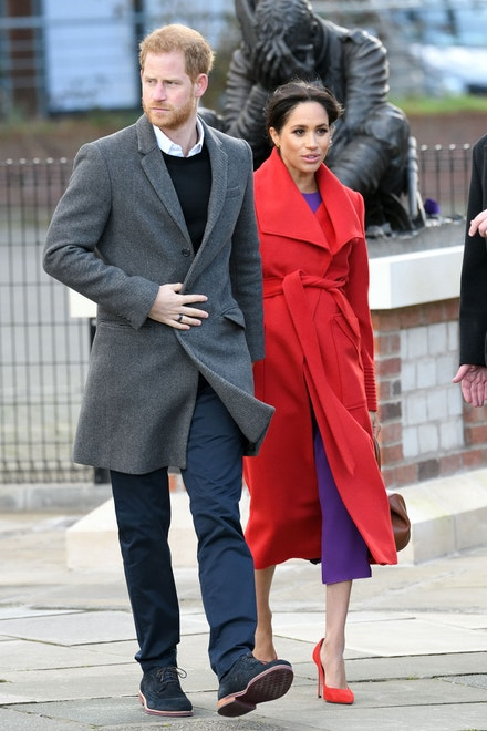 Princ Harry, vévoda ze Sussexu, a Meghan, vévodkyně ze Sussexu, Birkenhead, Hamilton Square, leden 2019