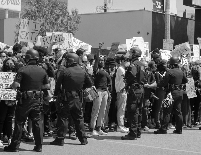 30 May 2020. Black Lives Matter protest, Los Angeles.
