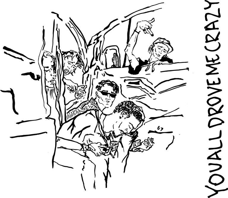 Youalldrovemecrazy team, ilustrace: Alexandra Stotskaya