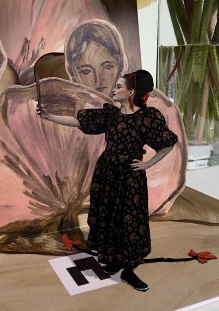 Helena Bonham Carter v kolekci Simone Rocha x H&M