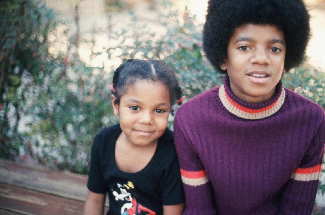 Michael Jackson se sestrou Janet, prosinec 1972