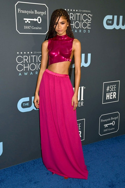 Zendaya v topu a sukni Tom Ford na Annual Critics' Choice Awards