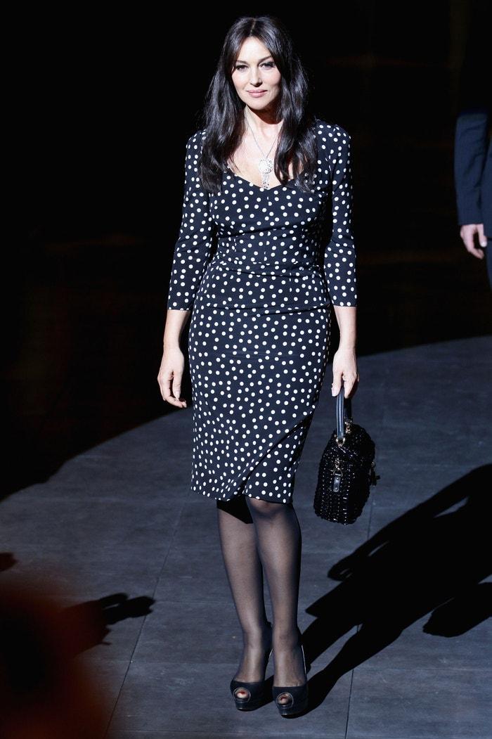 Monica Bellucci na přehlídce Dolce & Gabbana Autumn/Winter 2012/2013, Milan Womenswear Fashion Week, 2012 Autor: Vittorio Zunino Celotto/Getty Images