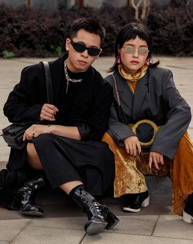 Street style z šanghajského fashion weeku