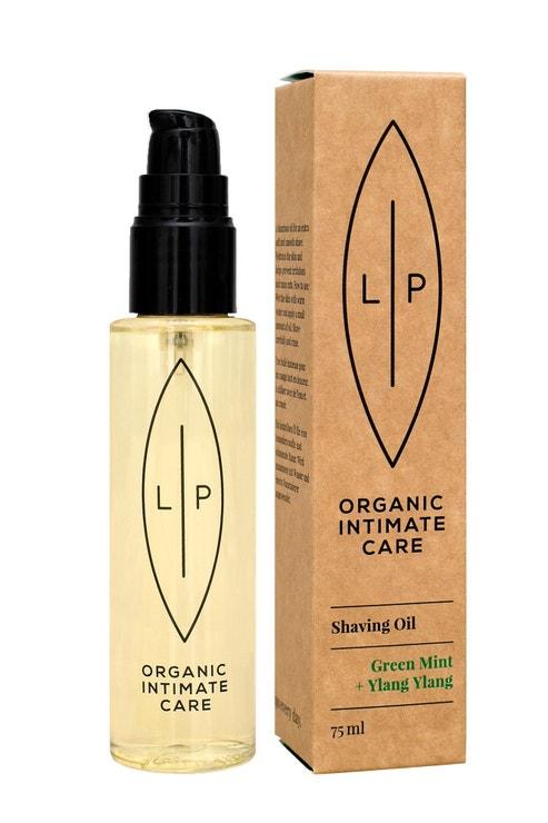 Hydratační olej na holení s mátou a ylang-ylangem, Lip Intimate Care, prodává Made for Moms, 499 Kč