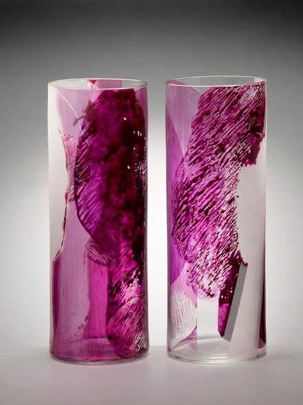 Jan Adam: Hlavy, 1978, do formy foukané, emaily malované sklo
