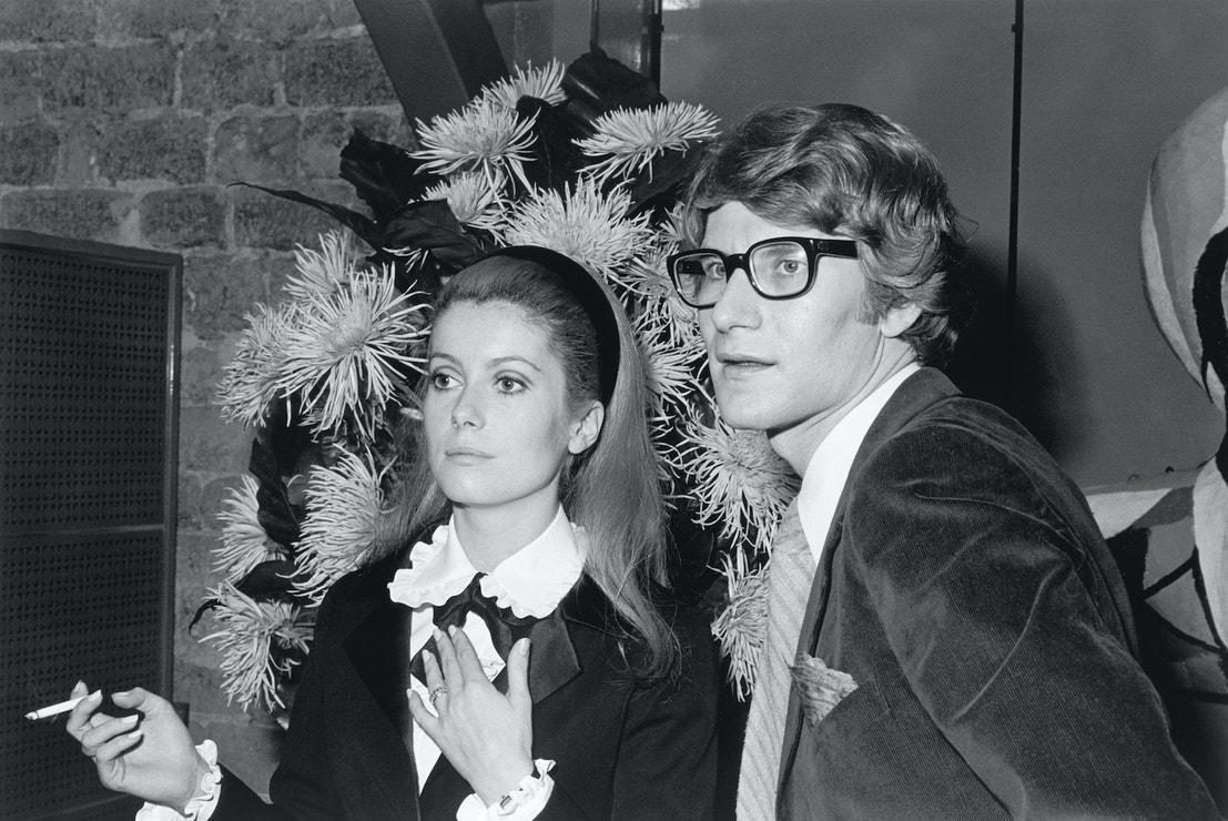 Catherine Deneuve a Yves Saint Laurent, září 1966