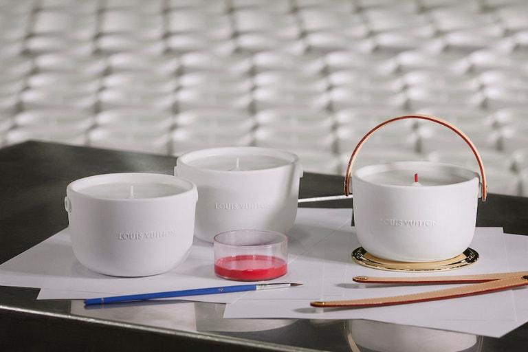 Knoty svíček Louis Vuitton se malují ručně v Grasse
