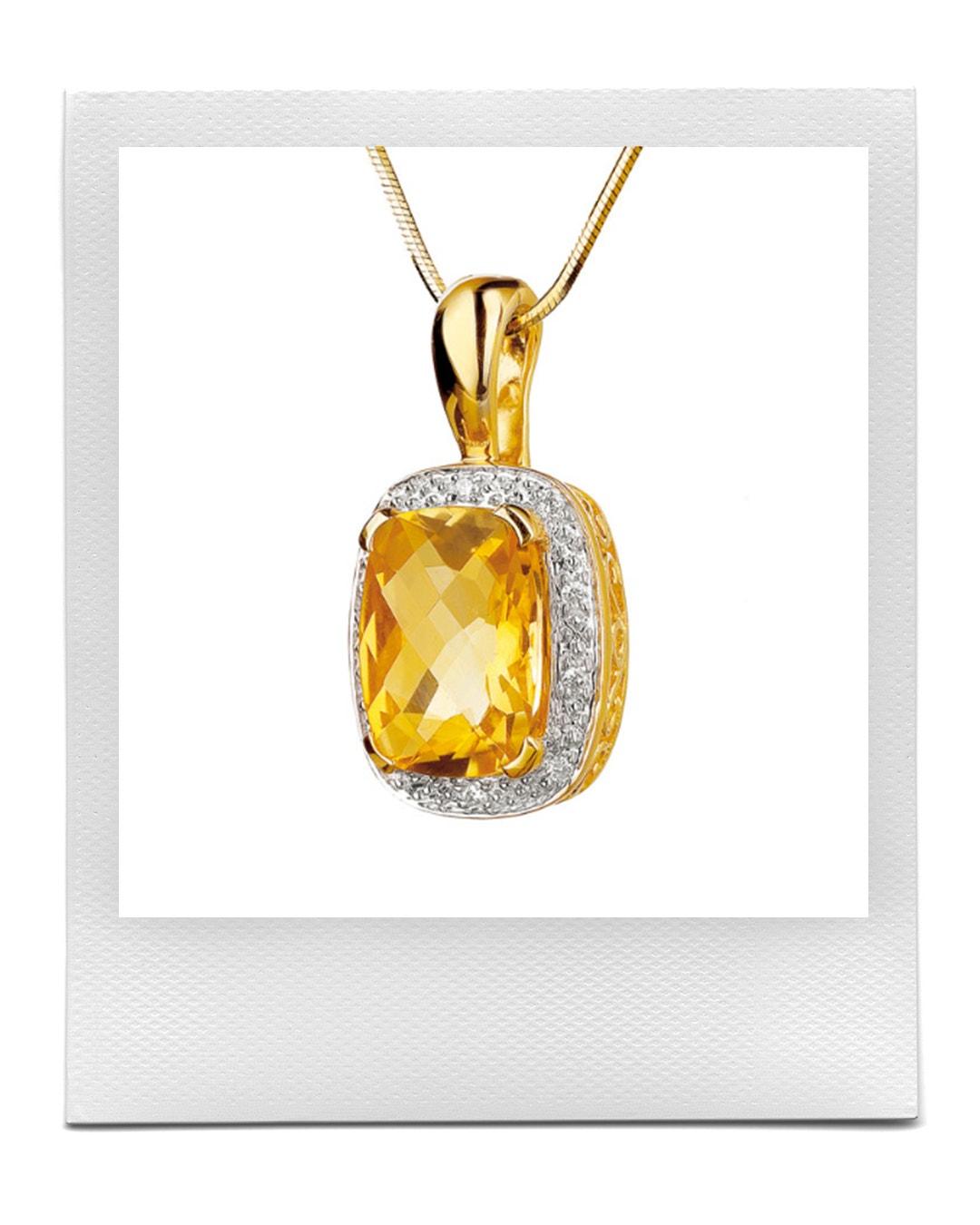 Přívěsek ze zlata s diamanty a citrínem, Apart  prodává Apart, 11 359 Kč