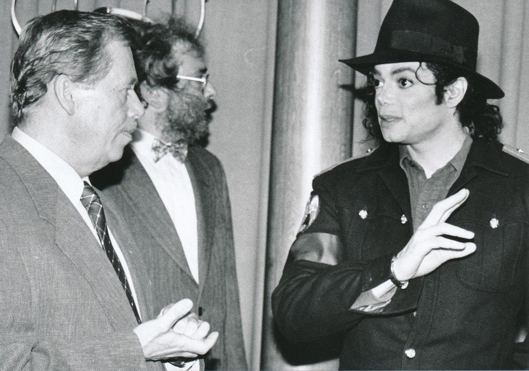 S Václavem Havlem v Praze, září 1996