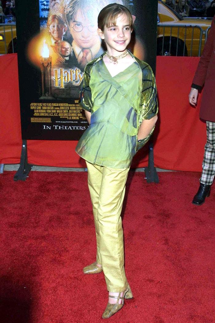 Na premiéře filmu Harry Potter a Kámen mudrců, 2001 Autor: Erik Pendzich/REX/Shutterstock