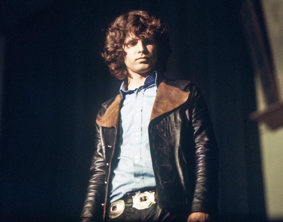 Jim Morrison na koncertu The Doors v Německu, 1968