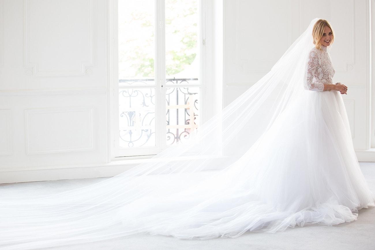 Chiara Ferragni v šatech Dior