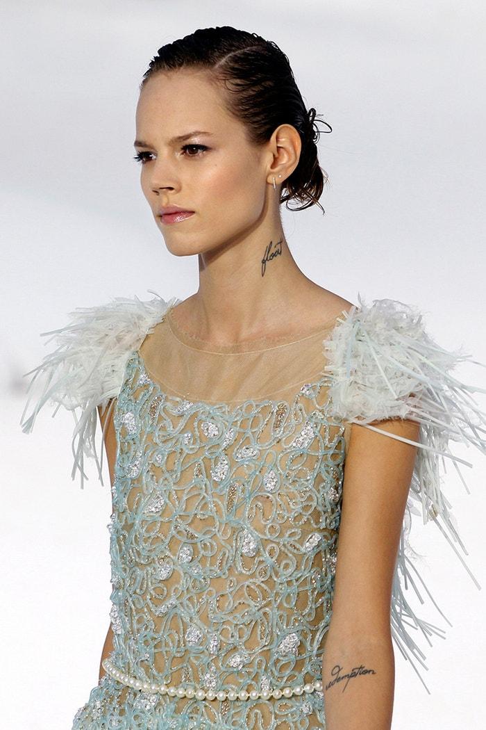 Freja Beha Erichsen, přehlídka Karla Lagerfelda pro Chanel ready-to-wear SS12, Paříž, říjen 2011 Autor: PATRICK KOVARIK/AFP/Getty Images