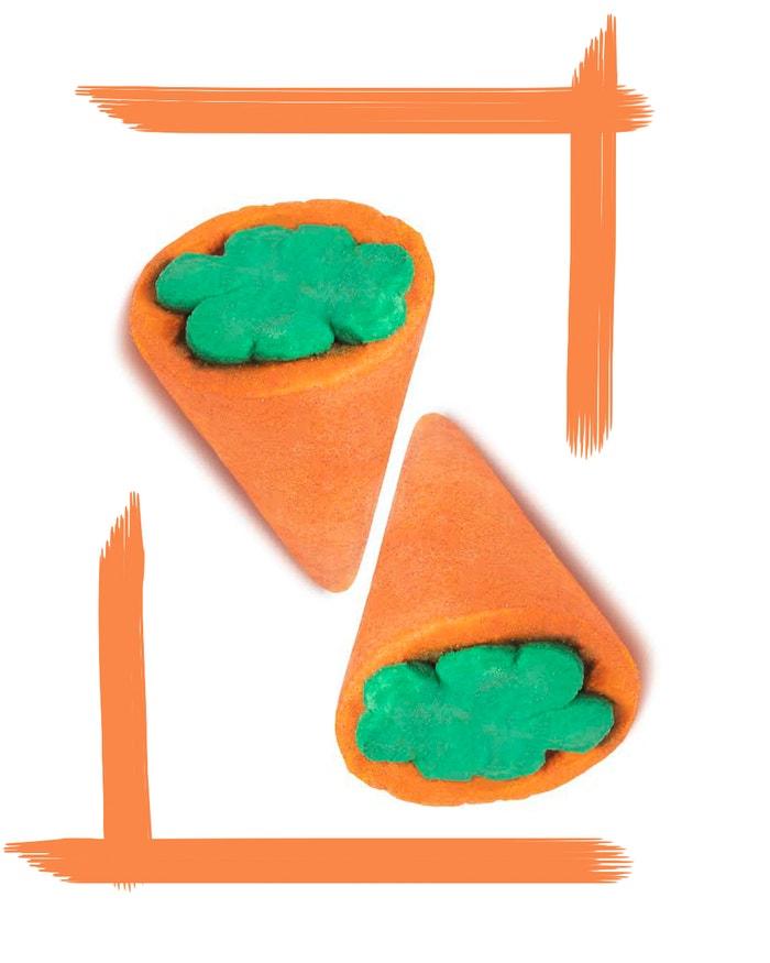 Koupelová bomba Lucky Carrot, LUSH, prodává Lush.cz, 175 Kč